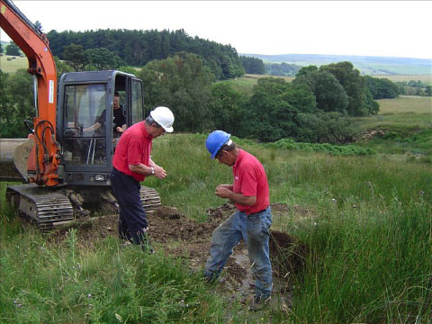 Opening up trenches for the Burdonside/Goften excavation