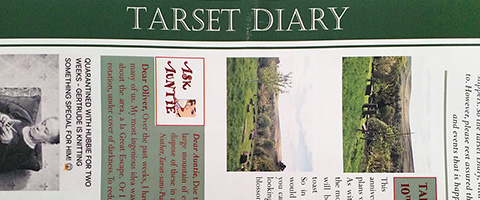 Photograph of the first edition of Tarset Diary in summer 2020